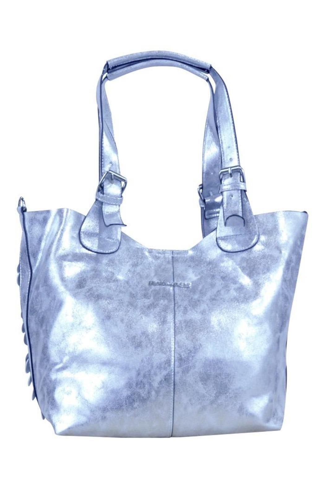 Frank Lyman Silver Paillettes Bag - Front Full Image