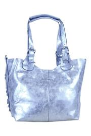 Frank Lyman Silver Paillettes Bag - Front full body