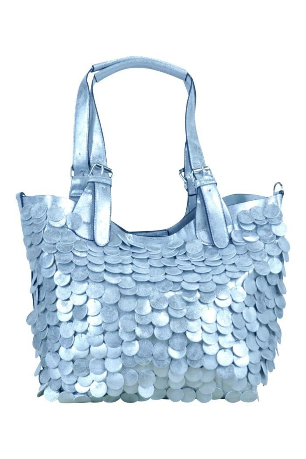 Frank Lyman Silver Paillettes Bag - Front Cropped Image