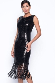 Frank Lyman Fringe Sequin Dress - Product Mini Image
