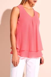 Frank Lyman Pink V Neck Blouse - Product Mini Image