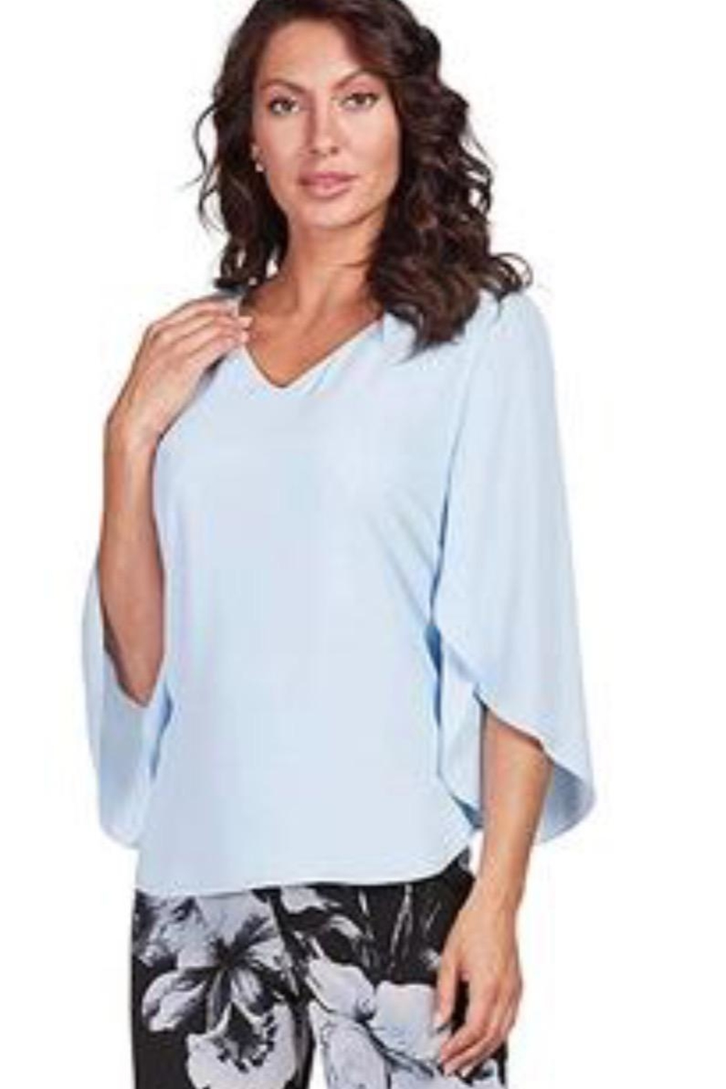 Frank Lyman Split Sleeve Top - Front Cropped Image