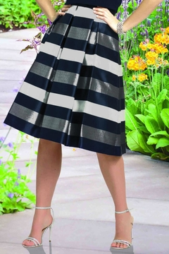 Shoptiques Product: Striped Flare Skirt