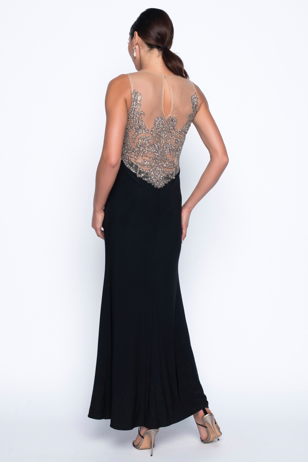 Frank Lyman Crystal Beaded Gown - Front Full Image