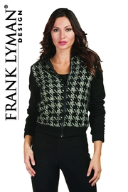 Frank Lyman Houndstooth Plaid Bomber - Front cropped
