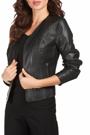 Frank Lyman Vegan Leather Moto Jacket - Product Mini Image