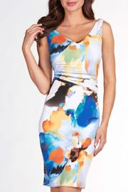 Frank Lyman Watercolour Shift Dress - Product Mini Image