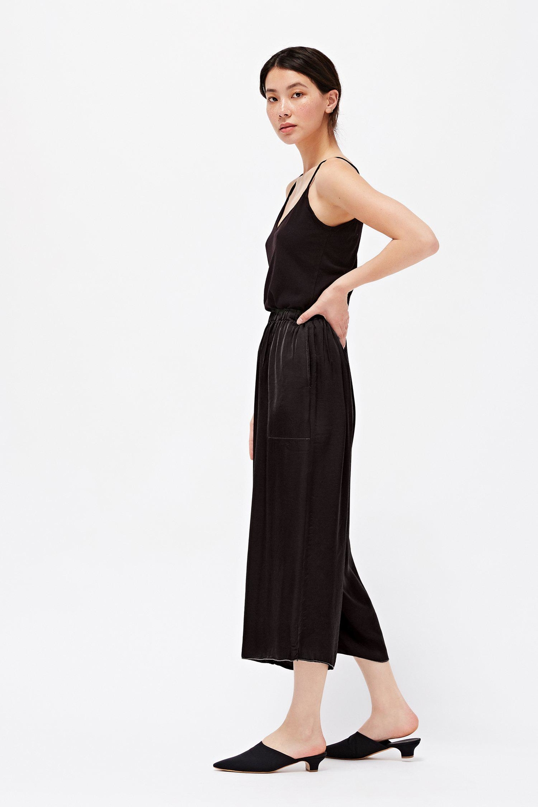 LACAUSA Franklin Satin Trousers - Front Full Image