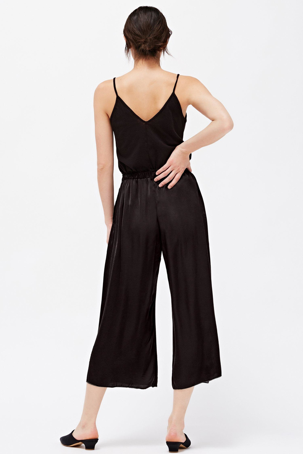 LACAUSA Franklin Satin Trousers - Back Cropped Image