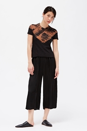 LACAUSA Franklin Satin Trousers - Side cropped