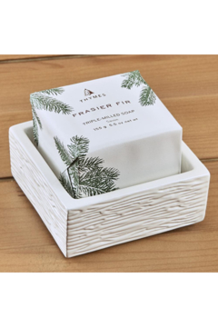 Thymes FRASIER FIR BAR SOAP AND DISH SET - Alternate List Image