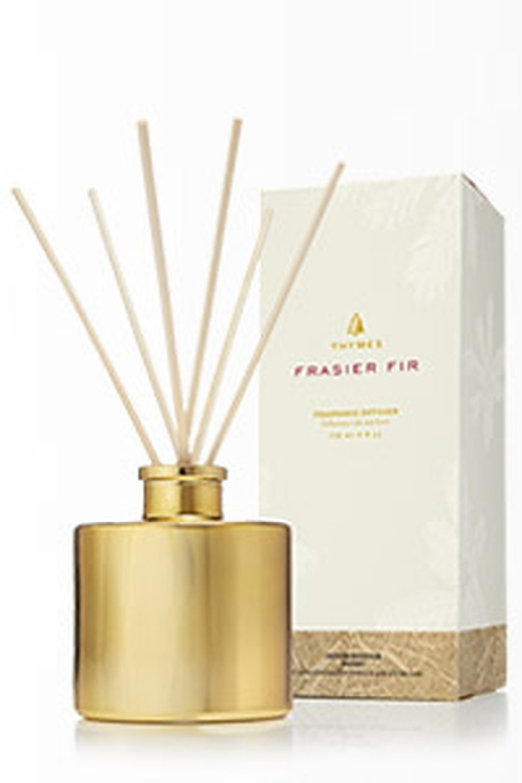 Thymes FRASIER FIR GILDED REED DIFFUSER-PETITE GOLD - Main Image