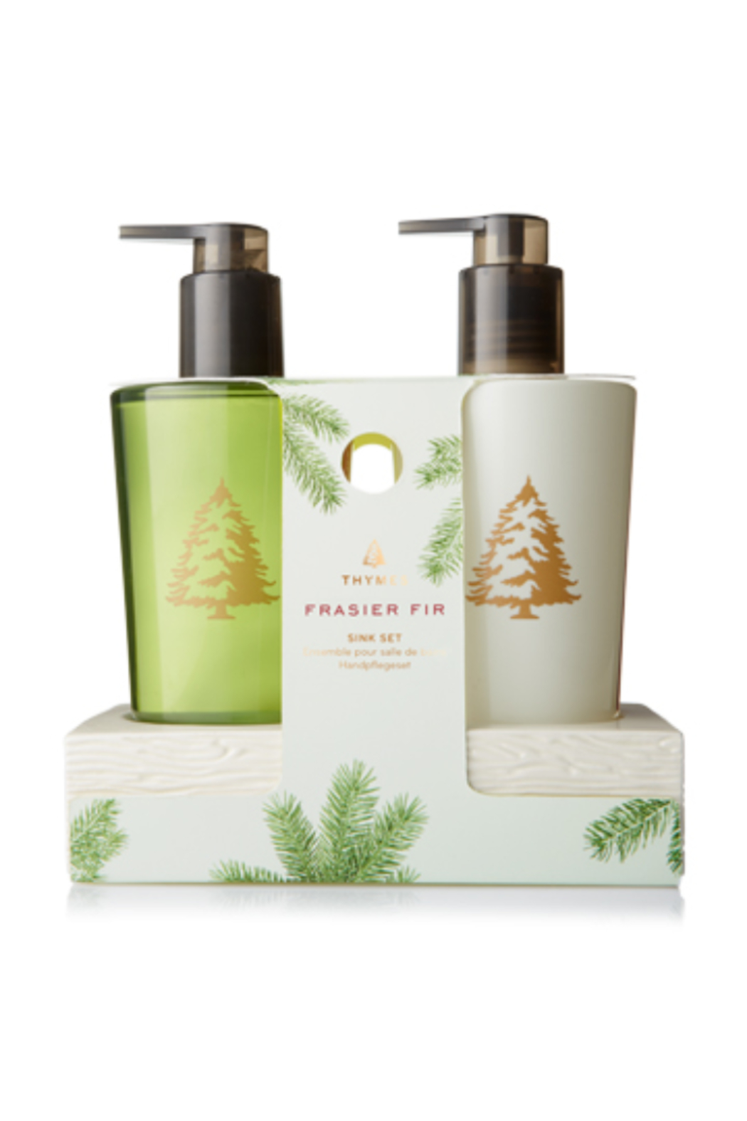 Thymes FRASIER FIR SINK SET WITH CERAMIC CADDY - Main Image