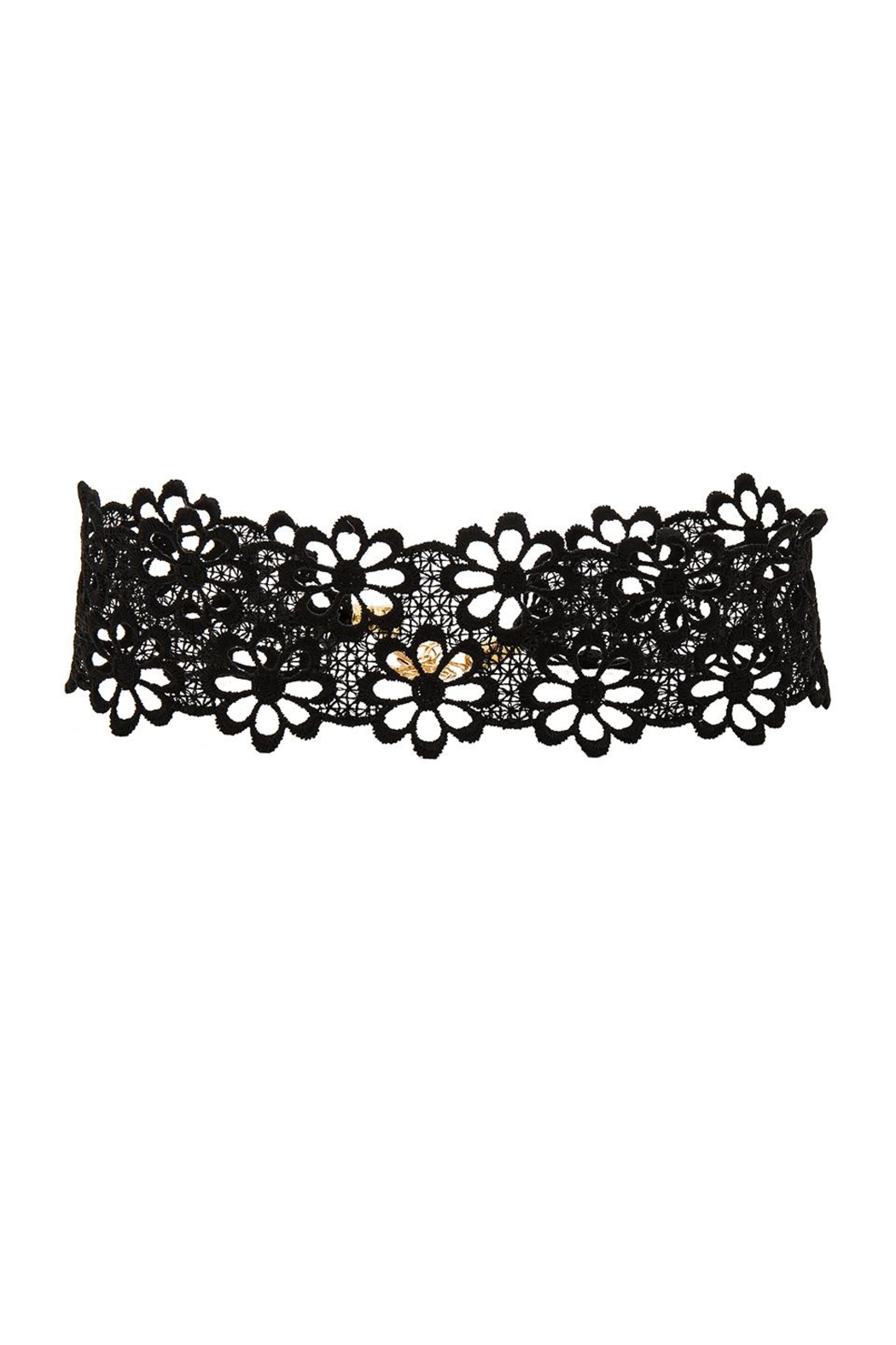 Frasier Sterling Lacey Daisy Choker in Black kbIFXu8tV6
