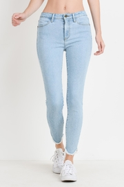 just black Fray Bottom Jeans - Product Mini Image