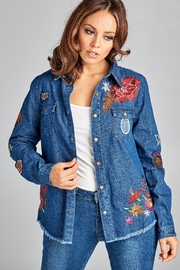 Racine Fray Denim Shirt - Product Mini Image