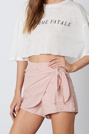 Cotton Candy  Fray Detail Skort - Product Mini Image