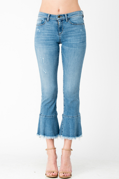 Sneak Peek Fray & Flare Bottom Crop Jean - Product List Image