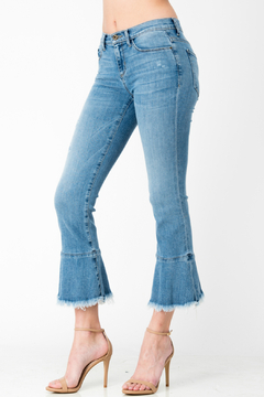 Sneak Peek Fray & Flare Bottom Crop Jean - Alternate List Image