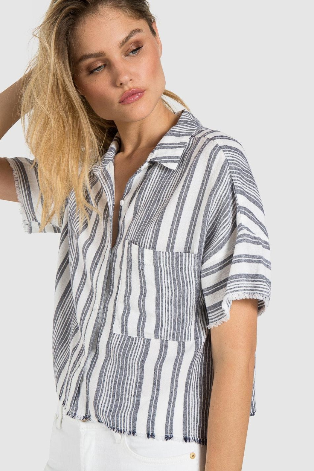 Bella Dahl Fray Hem Button-Down - Main Image
