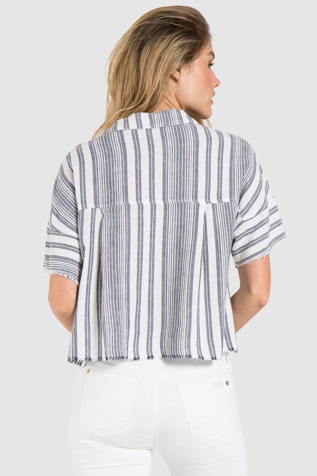 Bella Dahl Fray Hem Button-Down - Front Full Image