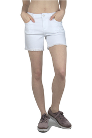 Tractr (New York Poplin) Fray Hem Denim Shorts w 5