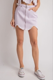 Le Lis Fray Hem Denim Skirt - Product Mini Image
