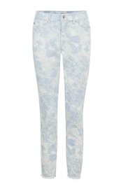Tribal Jeans Frayed Bottom Jeans - Front cropped