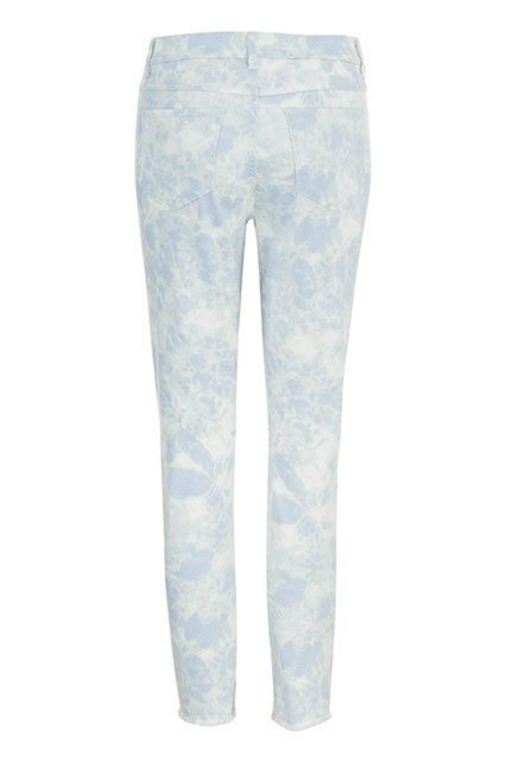 Tribal Jeans Frayed Bottom Jeans - Front Full Image