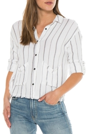 Bella Dahl Frayed Boxy Shirt - Product Mini Image