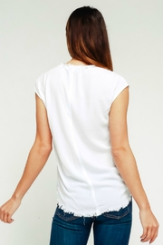 R+D emporium  Frayed Cap Sleeve - Side cropped