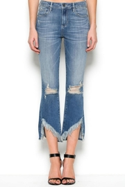 Hidden Jeans Frayed Cropped Flare - Product Mini Image