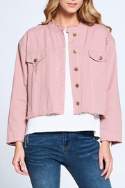 Ellison Frayed Denim Jacket - Front full body