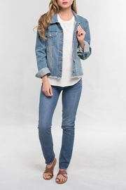 Lovestitch Frayed Denim Jacket - Product Mini Image