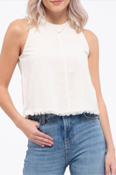 blu Pepper  Frayed edge Crop Top - Product List Image