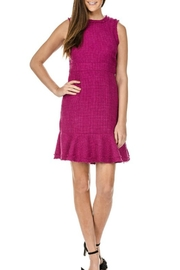 Jade Frayed Edge Dress - Front cropped