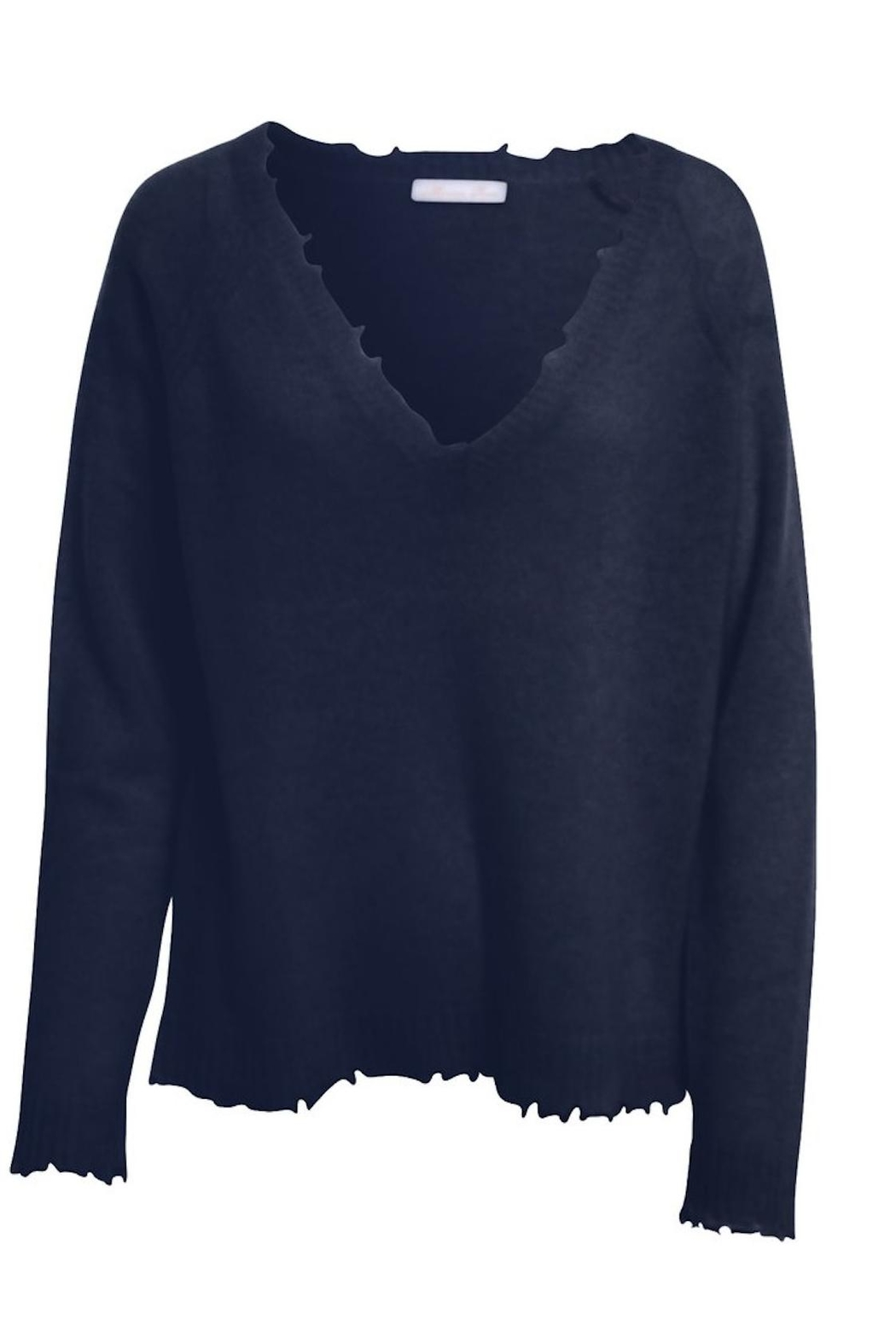 Minnie Rose Frayed Edge Sweater from New Hampshire by ONYX Boutique ...