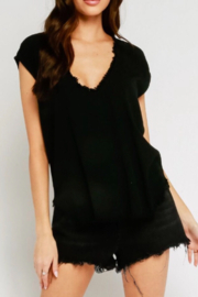 Olivaceous  Frayed edge top - Product Mini Image