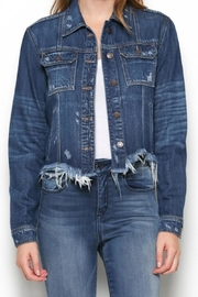 Hidden Jeans Frayed Fitted Jacket - Product Mini Image