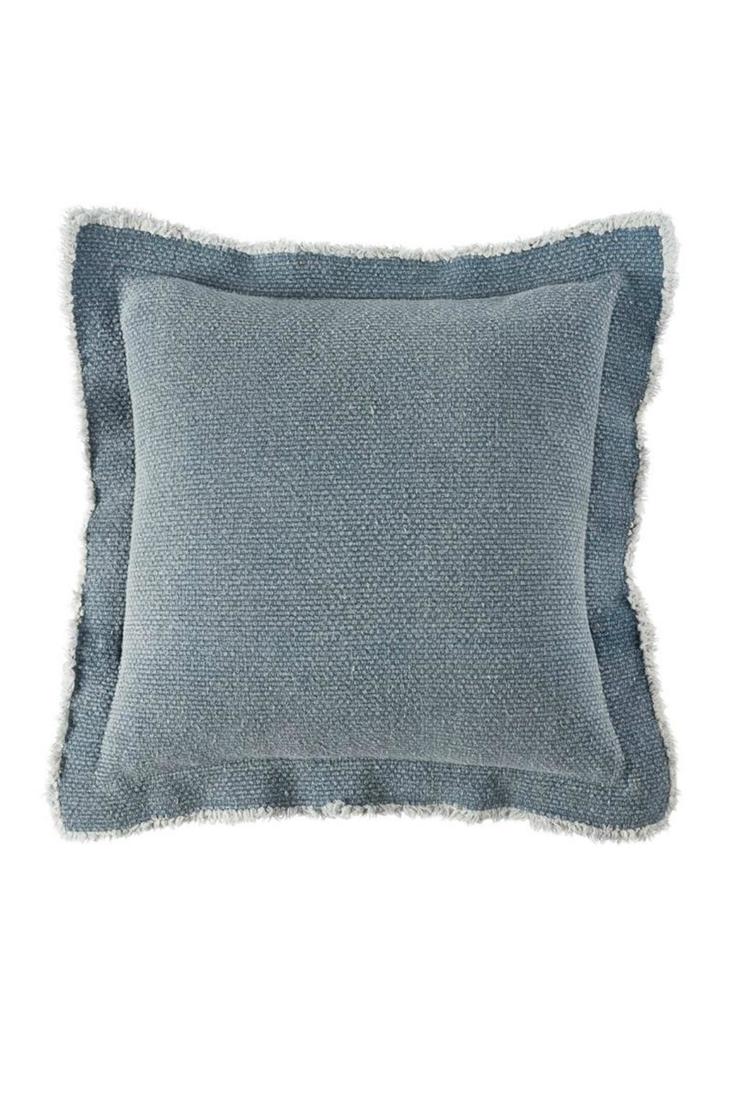 Mud Pie Frayed Flange Pillow - Main Image