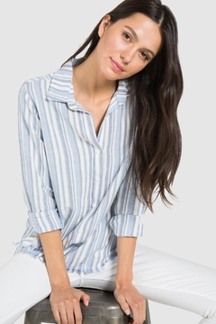 Bella Dahl Frayed Hem Button-Down - Product List Image
