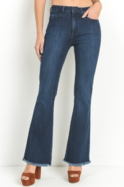 just black Frayed Hem Flare Jean - Product Mini Image