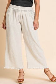Umgee  Frayed Hem Pant - Product Mini Image