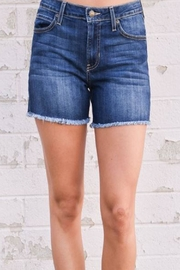 just black Frayed Hem Shorts - Product Mini Image