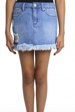 Shoptiques Product: Frayed Hem Skirt