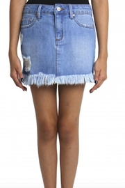 Tractr Frayed Hem Skirt - Product Mini Image