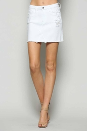 Vervet Frayed Hem Skirt - Product Mini Image