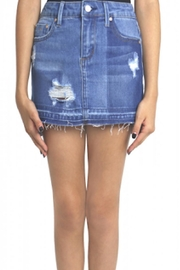Tractr Frayed Hem Skirt - Front cropped