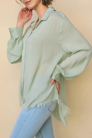 Umgee USA Frayed Long Sleeve - Front full body