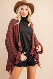 143 Story Frayed  Open Sweater Cardigan - Side cropped
